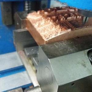 Gravação industrial carimbo
